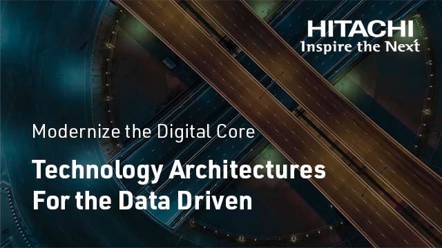 Technology Architectures For the Data Driven