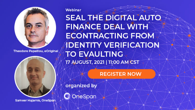 Digital Auto Finance Deal: eContracting from Identity Verification to eVaulting