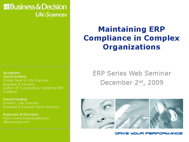 Maintaining ERP Compliance in Complex Organizations