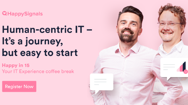Human-Centric IT - It's a journey, but easy to start