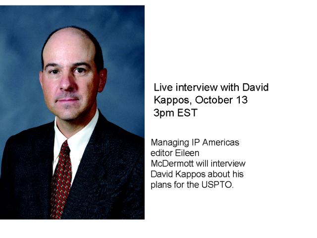 Live interview with USPTO director David Kappos