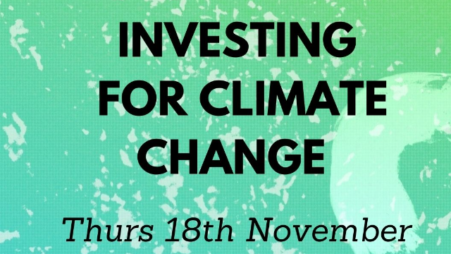 HOT TOPIC Investing for climate change