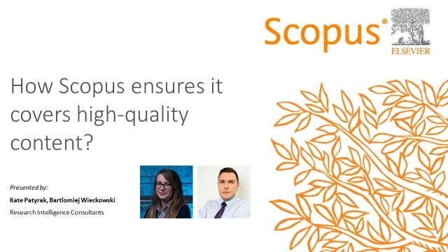 How Scopus ensures it covers high-quality content?