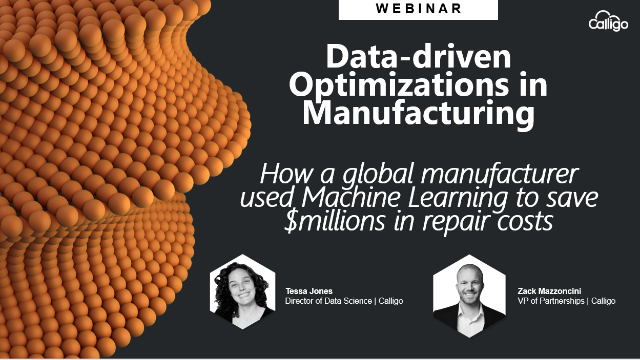 Machine Learning Success Story: How a manufacture saved millions in repair costs