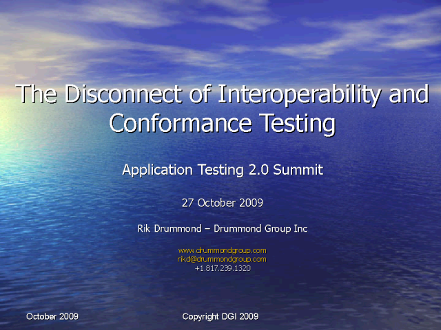 The Disconnect Between Interoperability and Conformance Testing