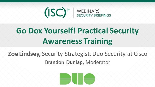 Go Dox Yourself! Practical Security Awareness Training