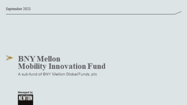 Update on the BNY Mellon Mobility Innovation Fund