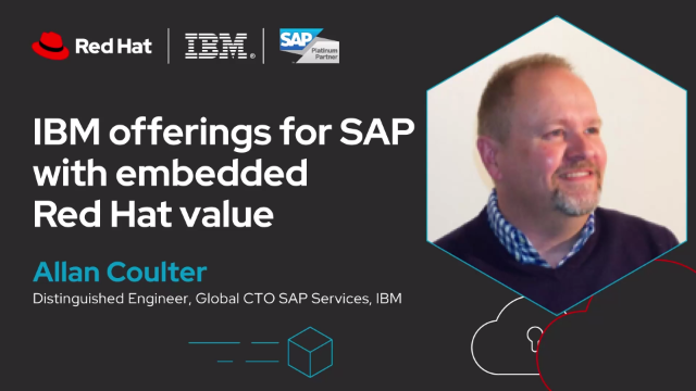 IBM offerings for SAP with embedded Red Hat value