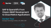 SAP & OpenShift: From classic ABAP development to cloud-native applications
