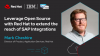 Use open source technologies with to extend the reach of SAP Integrations