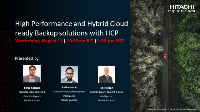 High Performance and Hybrid Cloud ready Backup solutions with HCP
