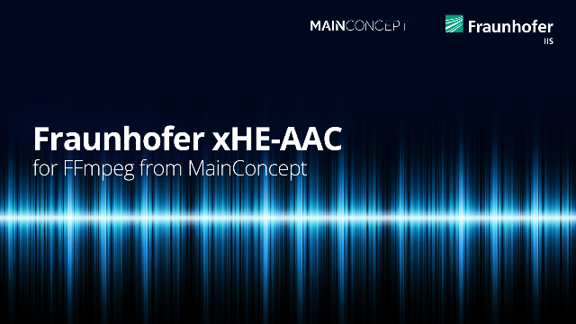 Fraunhofer xHE-AAC Plugin for FFmpeg from MainConcept