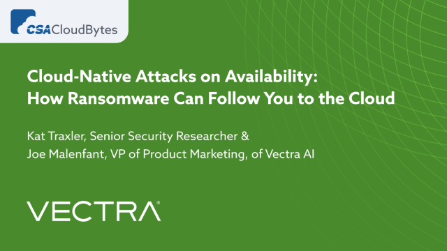 Cloud-Native Attacks on Availability: How Ransomware Can Follow You to the Cloud