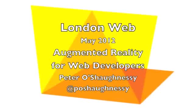 Augmented Reality for Web Developers