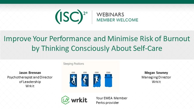 Improve Performance & Minimise Risk of Burnout:Think Consciously About Self-Care