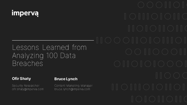Lessons Learned from Analyzing 100 Data Breaches