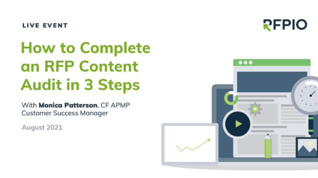 How to Complete an RFP Content Audit in 3 Steps