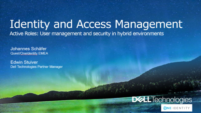 One Identity Active Roles – User management and security for hybrid environments