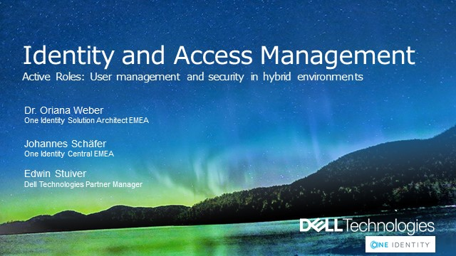One Identity Active Roles - User management and security for hybrid environments