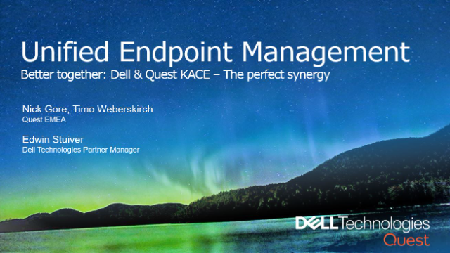 Better together: KACE & Dell - The perfect synergy