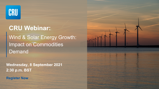 Wind and Solar Energy: Growth Impact on Commodities Demand