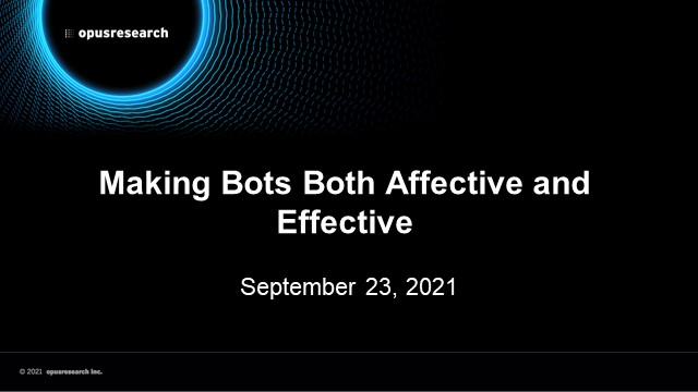 Making Bots Both Affective and Effective
