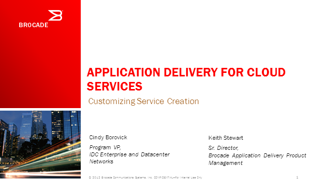 Application Delivery for Cloud Services: Customizing Service Creation