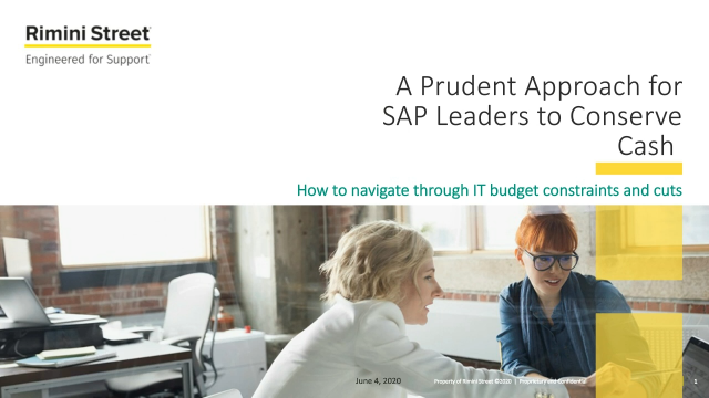 Navigating the Future of SAP: Webinar and IDG Survey Results