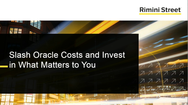 Slash Oracle Costs and Invest in What Matters to You