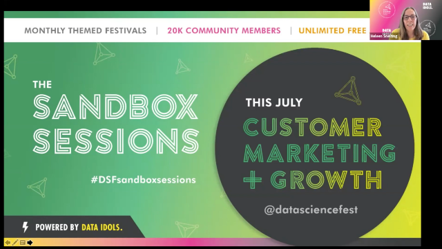 Visual Data Science in Retail: Data Science Festival Sandbox Sessions