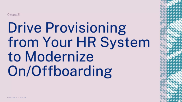 Drive Provisioning from Your HR System to Modernise On/Offboarding