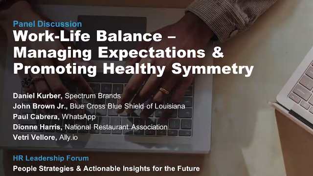 Work-Life Balance: Managing Expectations & Promoting Healthy Symmetry