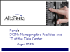DCIM: Managing the Facilities and IT of the Data Center - Panel Session