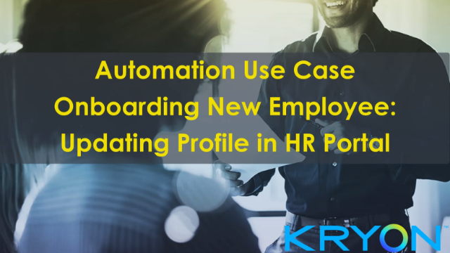 Automated Onboarding of New Employees: Updating Profile in HR Portal