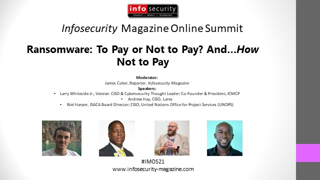 #IMOS21 Ransomware: To Pay or Not to Pay? And…How Not to Pay!