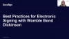Best Practices for Electronic Signing with Womble Bond Dickinson