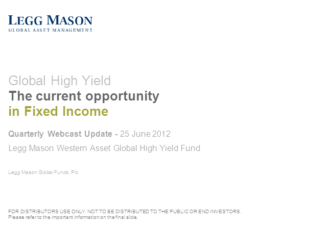 Legg Mason Western Asset Global High Yield Fund