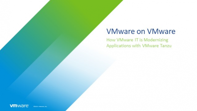 How VMware IT are Modernising Applications with VMware Tanzu