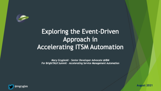Exploring the Event-Driven Approach in Accelerating ITSM Automation