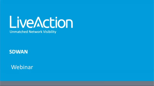 LiveAction Lifecycle Best Practices for SD-WAN Deployments