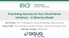 Prioritizing Security for Your Cloud Native Initiatives – A Maturity Model