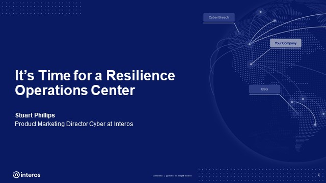 It's Time for a Resilience Operations Center