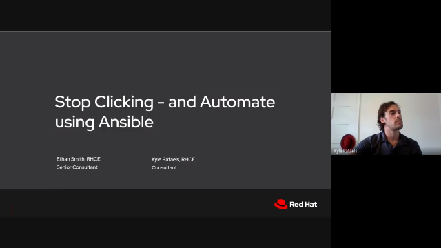 Stop clicking—and automate using Ansible