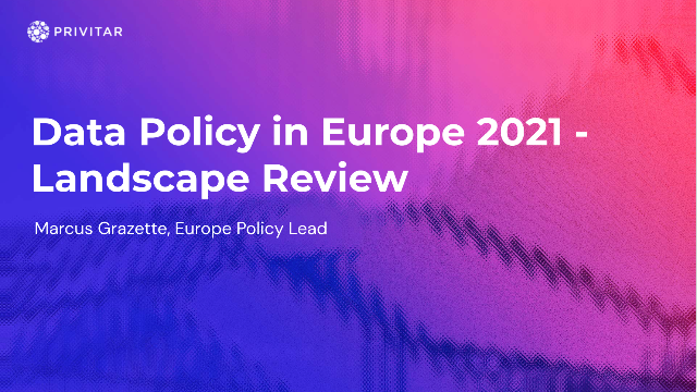 Data Policy in Europe 2021 - Landscape Review