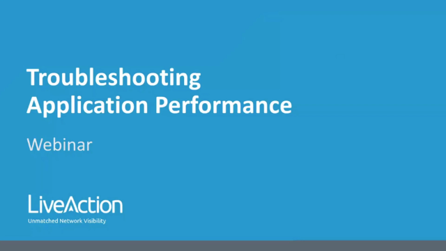 Troubleshooting Application Performance