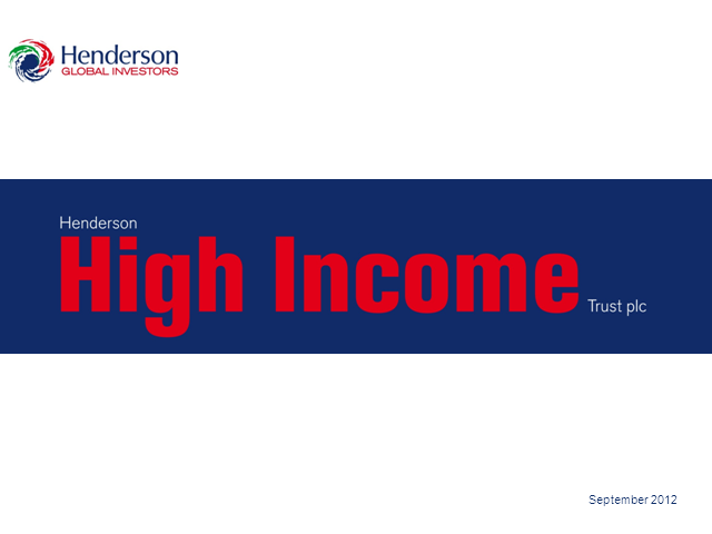 Henderson High Income Trust - Webcast