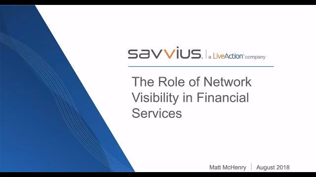 The Role of Network Visibility in Financial Services