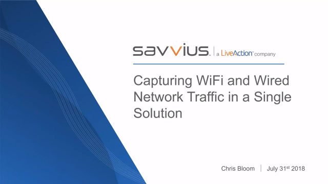 Capturing Wired and Wireless Network Traffic from a Single Solution