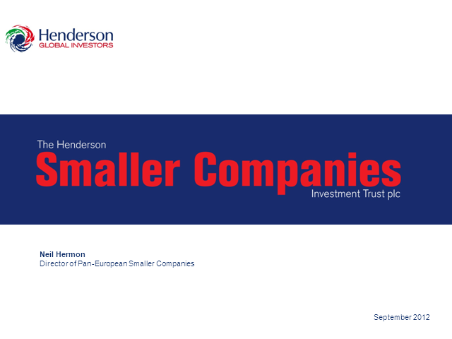 The Henderson Smaller Companies Investment Trust - Webcast