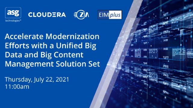 Accelerate Modernization with a Unified Big Data and Big Content Management PaaS